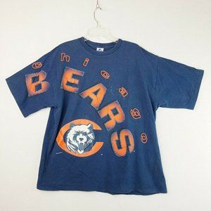 Vintage Chicago Bears Starter XL Navy Blue T-shirt